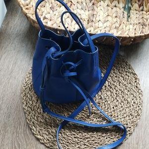 Saphire blue leather purse